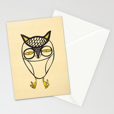 satisfied  owl Stationery Cards