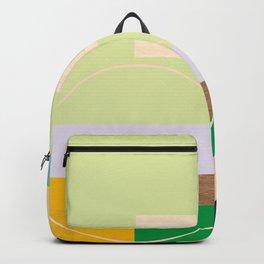 Geometric and Wood Backpack