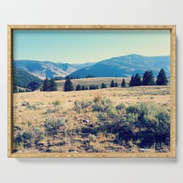 The High Plains of Lamar Valley: Yellowstone National Park Serving Tray