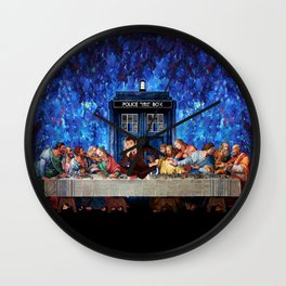 Tardis doctor who lost in the last supper iPhone 4 4s 5 5c 6, pillow case, mugs and tshirt Wall Clock