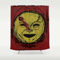 watchmen Shower Curtains featuring observations upon loss by Melvin Pena