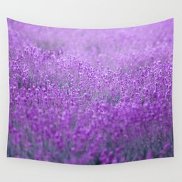 Rain on Lavender Wall Tapestry