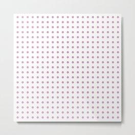 Pink Polka Metal Print