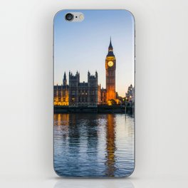 Big Ben During Sunset | London England Europe Cityscape Night Photography iPhone Skin