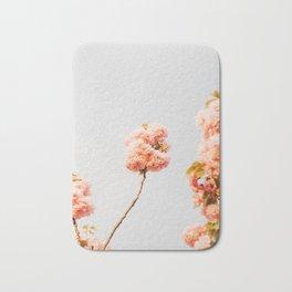 Pillars Of Pastel Pink Flowers Romantic Vintage Florals Bath Mat