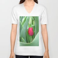 gem V-neck T-shirts featuring Hidden Gem by Rosie Brown