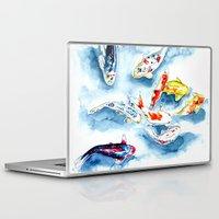 koi Laptop & iPad Skins featuring Koi  by Bridget Davidson