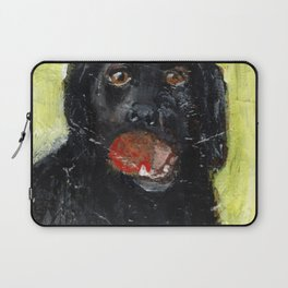 Dog with Red Ball Laptop Sleeve