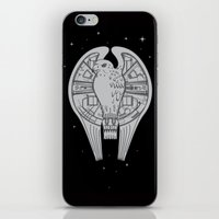 millenium falcon iPhone & iPod Skins featuring The REAL Millenium Falcon by Scott Neilson