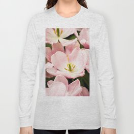 Pink Flowers (Color) Long Sleeve T-shirt