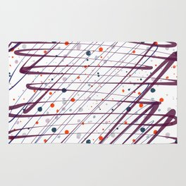 Maroon Splatter Pattern Rug