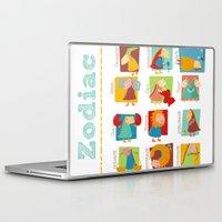 zodiac Laptop & iPad Skins featuring Zodiac by Loezelot