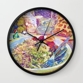 """We Are Fools, Whether We Dance or Not, So We Might As Well Dance"""" Japanese Proverb Wall Clock"""