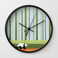 bamboo Wall Clocks featuring Bamboo by Kakel