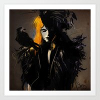 crow Art Prints featuring Crow by Dnzsea