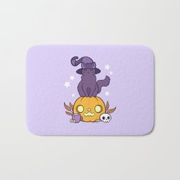 Pumpkin Cat Bath Mat