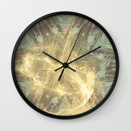 Kaos theory mandala Wall Clock