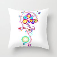 psychedelic Throw Pillows featuring Psychedelic by tuditees