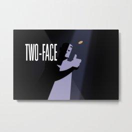 Two-Face Metal Print