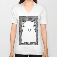 dumbo V-neck T-shirts featuring Dumbo Octopus by Indigo K