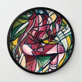 Stained glass figure Wall Clock