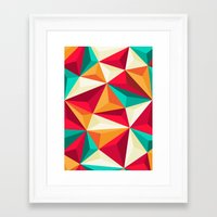 diamond Framed Art Prints featuring Diamond by Azarias