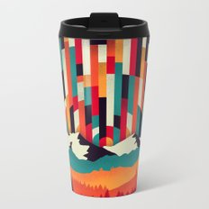Sunset in Vertical Multicolor Metal Travel Mug
