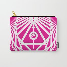 Radiant Abundance (hot pink-white) Carry-All Pouch