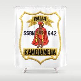 USS KAMEHAMEHA (SSBN-642) PATCH Shower Curtain