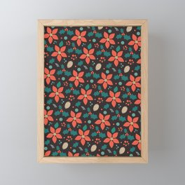 Deck the Halls - Black Background (Patterns Please) Framed Mini Art Print
