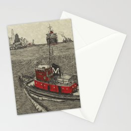 Morgan Tugboat, Hudson river, New York Stationery Cards