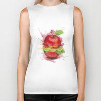 burger Biker Tanks featuring burger by Boho déco