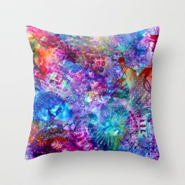 inky brights Throw Pillow