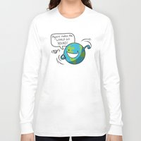 physics Long Sleeve T-shirts featuring Physics Makes the World Go 'Round! by awkwardyeti