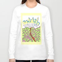 paper towns Long Sleeve T-shirts featuring Paper Towns by green.lime