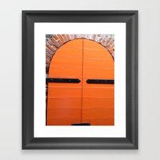 Historic St. Thomas USVI  orange Door way Framed Art Print