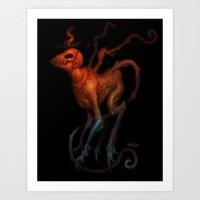 demon Art Prints featuring demon by Yoncho Yonchev