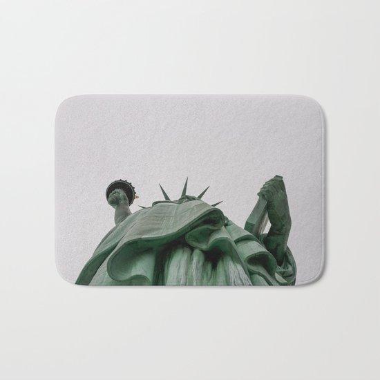 A Lady in green - NYC Bath Mat