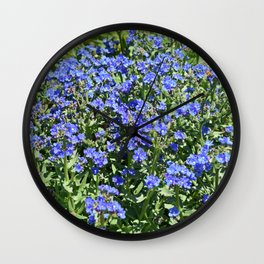 Field of Blue Wall Clock