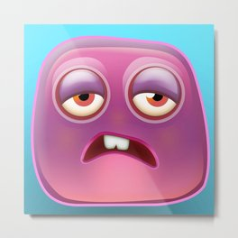 Glutton Jelly Monster  Metal Print
