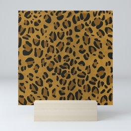 Scene Kid Leopard Print (GOLD) Mini Art Print