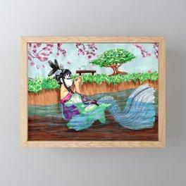Geisha Mermaid Framed Mini Art Print
