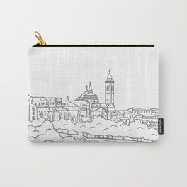 Hand drawn skyline of Citta Alta Bergamo, Italy Carry-All Pouch