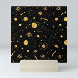 Cosmos (Black & Gold) Mini Art Print