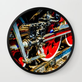 VIntage Steam Engine Lovomotive Links And Rods Wall Clock