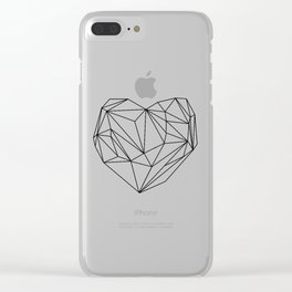 Heart Graphic (black on white) Clear iPhone Case