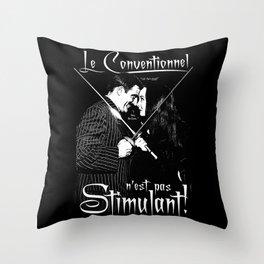 Le Conventionnel n'est pas Stimulant (Gomez & Morticia) Throw Pillow