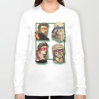 renaissance Long Sleeve T-shirts featuring Renaissance Mutant Ninja Artists by Rachel M. Loose