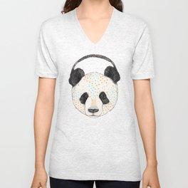 Polkadot Panda Unisex V-Neck