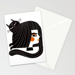 CAT HAIR Stationery Cards